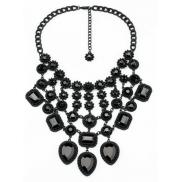 European and American big baroque full mesh short black gem diamond necklace jewelry wholesale exaggerated female