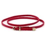 handmade weave belt woman buckle retro leisure all-Purpose belt rope ornament