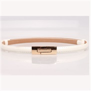 buckle  candy colors leather lady Korean style belt Korean style all-Purpose fashion ornament belt woman style