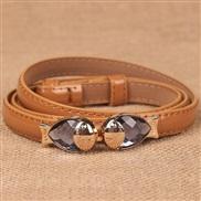 diamond lady leather ornament shape belt  buckle samll belt woman Korean style
