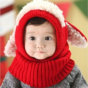 child hat Autumn and Winter style  Korea lovely samll dog shawl one-piece warm woolen