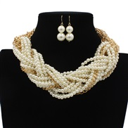 occidental style fashion exaggerating retro Pearl handmade necklace  necklace
