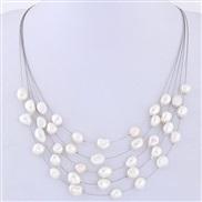 fine  natural Pearl all-Purpose multilayer temperament necklace
