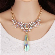 occidental style drop crystal necklace fashion all-Purpose Alloy diamond women necklace