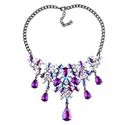 WI occidental style diamond Colorful four color drop necklace