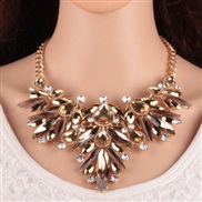 occidental style temperament exaggerating embed zircon Rhinestone necklace