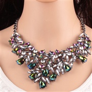 occidental style luxurious shine embed zircon exaggerating long necklace  new