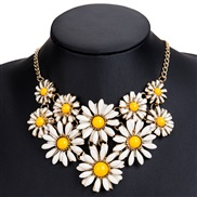 occidental style exaggerating flower enamel necklace female fashion multilayer Bohemia