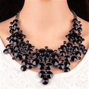 occidental style  long style zircon color necklace