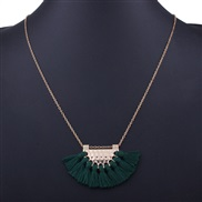 occidental style fashion  geometry sector tassel pendant necklace  Bohemian style