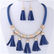 occidental style fashion  concise Bohemia wind all-Purpose tassel temperament fashion necklace earrings  set