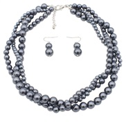 occidental style handmade Pearl beads necklace clavicle chain