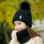 hat velvet woolen velvet Korean style lady Autumn and Winter knitting two