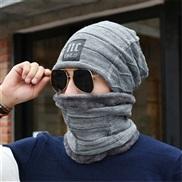 hat man autumn Winter knitting woolen two velvet thicken warm Outdoor woman