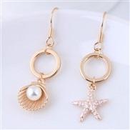 fine  Korean style fashion sweetOL  starfish  all-Purpose asymmetry personality temperament earrings