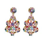 ( Color)UR occidental style earrings high-end diamond