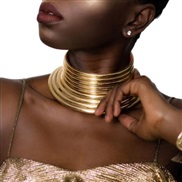 ( Gold) occidental style fashion  ethnic style exaggerating personality Metal Collar