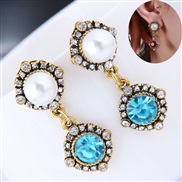 occidental style fashion  concise flash diamond gem all-Purpose personality temperament ear stud