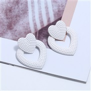 ( white) occidental style exaggerating high-end geometry love earrings