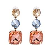 occidental style fashion Alloy diamond atmospheric luxurious big earrings