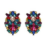 (51601) occidental style wind personality earrings high-end Alloy diamond earring