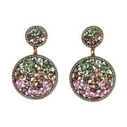 ( green) retro palace wind Pomegranate more earrings  trend retro