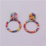 ( Color)  occidental style all-Purpose Round ethylic acid plates earrings ear stud