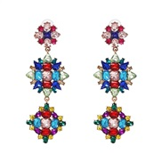 ( Color) diamond color earrings occidental style wind earring