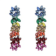 ( Color) diamond earrings occidental style new