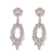 ( white)UR owl earrings occidental style high-end personality earring