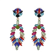 ( Color)UR owl earrings occidental style high-end personality earring