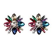 ( Color)flowers diamond arring     crystal earrings
