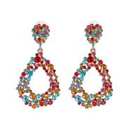 ( Color)UR Alloy glass diamond earrings fully-jewelled earring
