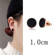 10mm high quality occidental style fashion  titanium steel brief Round personality woman ear stud