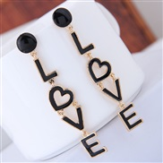 occidental style fashion  Metal conciseLOVE personality woman ear stud