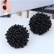 occidental style trend  noble wind beads woman exaggerating temperament ear stud