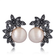fine  Korean style fashion classic earring  concise bud Pearl personality temperament ear stud buckle