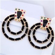 occidental style fashion Bohemia noble wind establishment exaggerating concise circle temperament ear stud