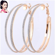 occidental style fashion  concise circle temperament exaggerating ear stud buckle