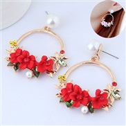 occidental style fashion Metal concise sweet flowers temperament personality earring ear stud