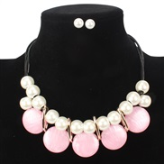 occidental style  exaggerating  imitate Pearl elegant temperament leather clavicle chain  woman necklace