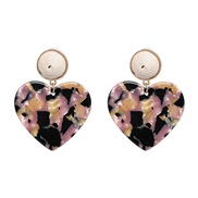 ear stud occidental style Acrylic square earrings color