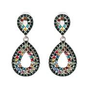UR Alloy glass diamond earrings occidental style wind lady ear stud