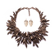 leaves necklace earrings set   palace exaggerating wind