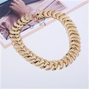 occidental style exaggerating Collar  short style woman frosting Metal textured necklace circle short style clavicle