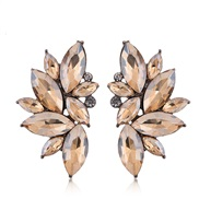 occidental style fashion  Metal bright gorgeous gem personality temperament ear stud