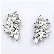 earrings angel wings Modeling earrings high-end Alloy fine Rhinestone mosaic