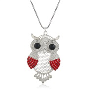 occidental style retro owl fully-jewelled sweater chain  long necklace woman  personality fashion all-Purpose crystal
