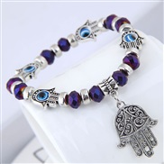 occidental style fashion  concise eyes crystal  all-Purpose Metal personality bracelet