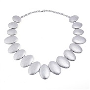 fashion retro Metal Oval frosting trend necklace